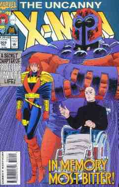 Uncanny X-Men comic book cover #309
