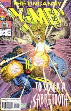 Uncanny X-Men comic book cover #311