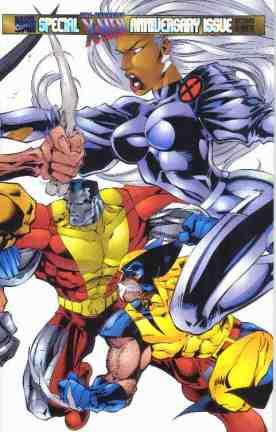 Uncanny X-Men comic book cover #325 (Anniversary)