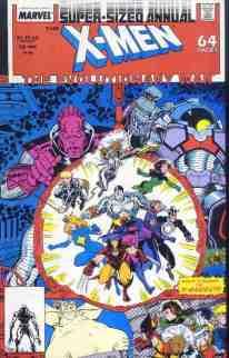 Uncanny X-Men comic book cover Annual #12