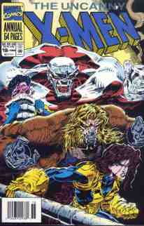 Uncanny X-Men comic book cover Annual #18