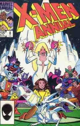 Uncanny X-Men comic book cover Annual #8