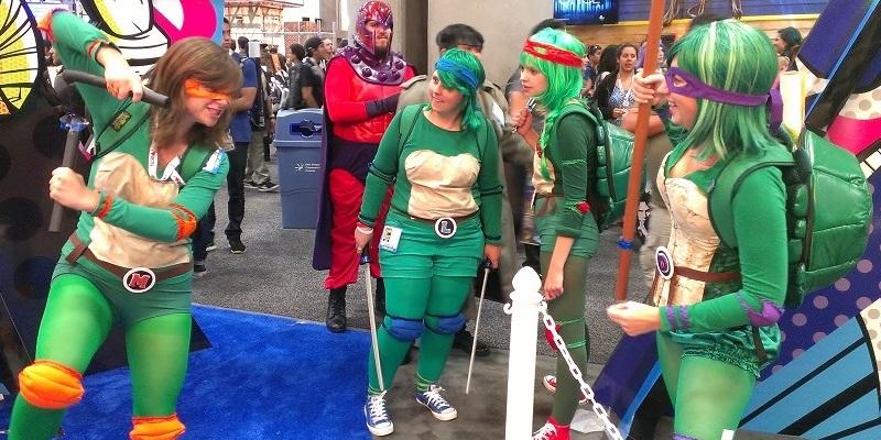 Girl Teenage Mutant Ninja Turtles Cosplay Girls at San Diego Comic-Con 2013