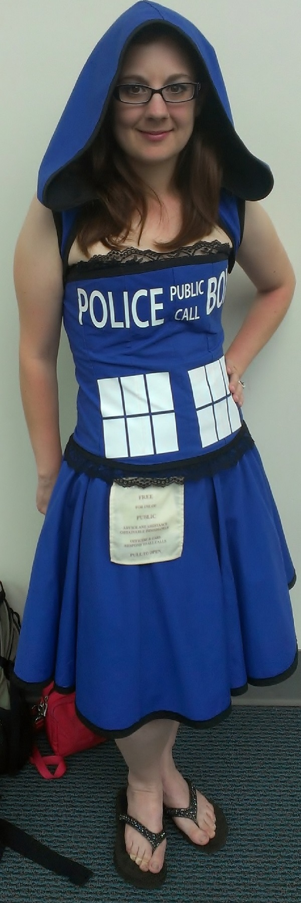 Dr. Who Tardis Cosplayer at Comic-Con 2013