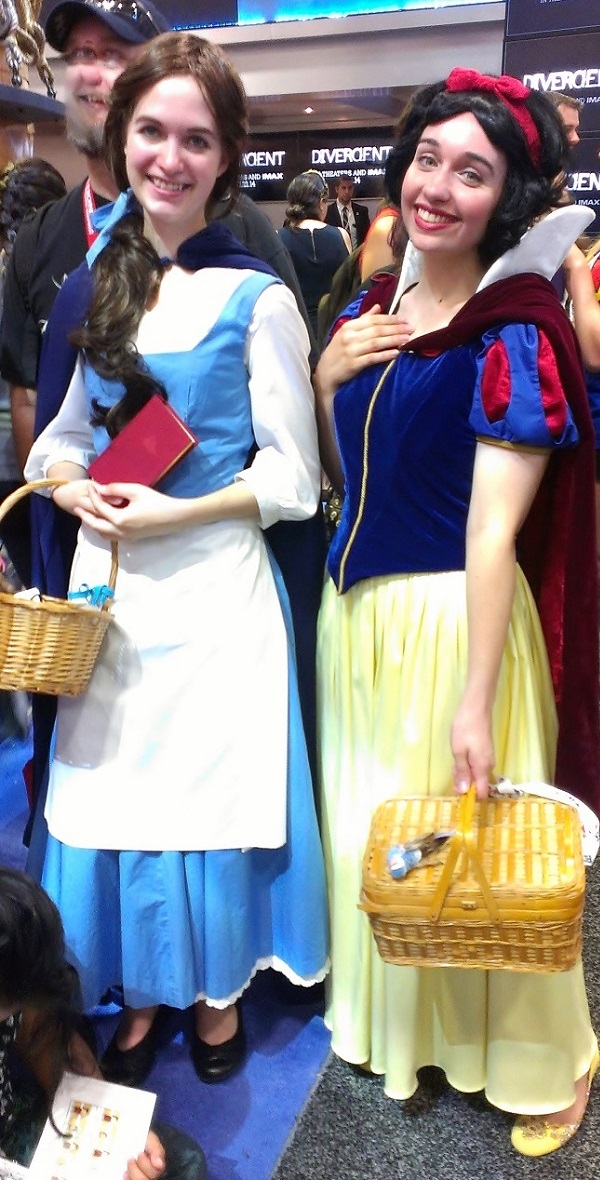 Belle and Snow White Cosplayers at Comic-Con 2013