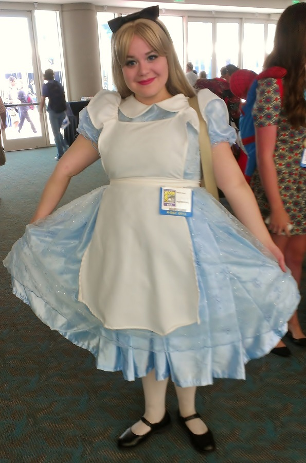 Alice in Wonderland Cosplayer at Comic-Con 2013