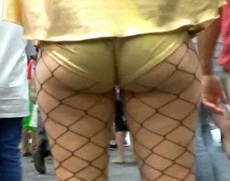Big Ass with fishnets