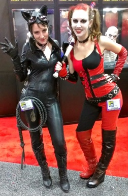 Catwoman and Harley Quinn Cosplayers