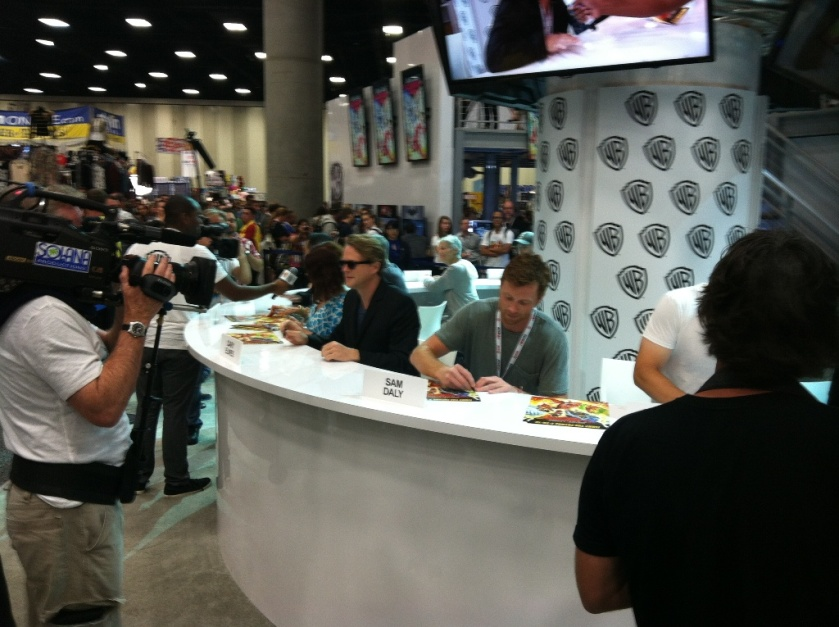 Cary Elwes and Sam Daly at the Comic-Con