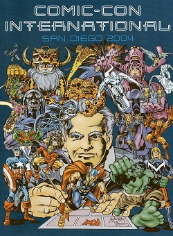 2004 Comic-Con Program Book cover by Jack Kirby