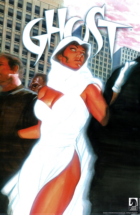 Ghost comic book character from Dark Horse Comics; poster by Alex Ross