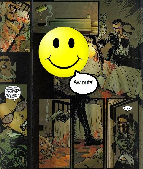 Violent and gory scenes in comic books
