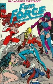 Femforce comic book #23, Rad fighting heroes