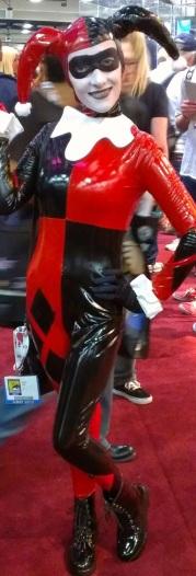 Latex Harley Quinnn costume