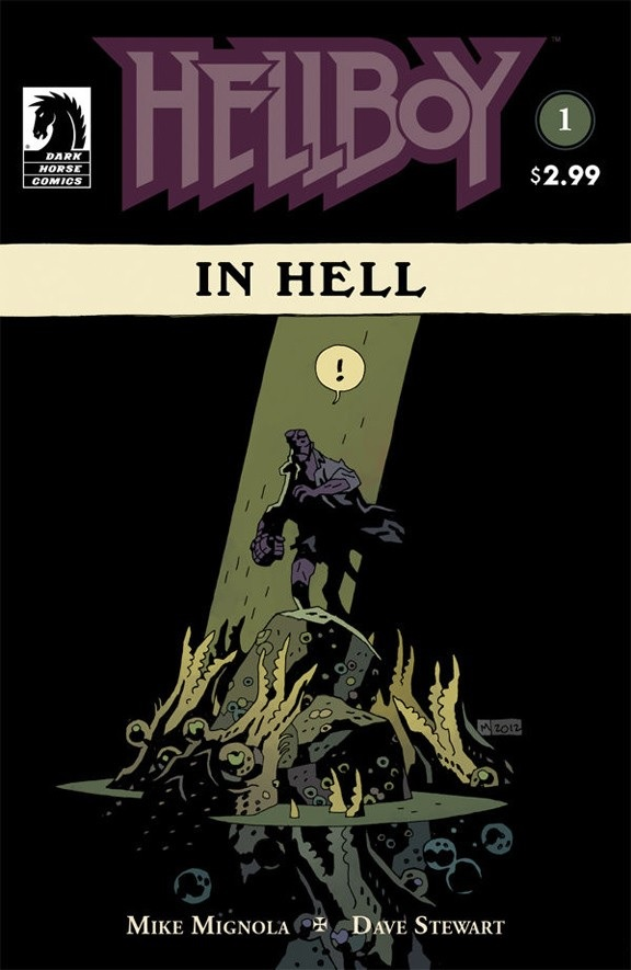 Hellboy in Hell #1 cover art by Mike Mignola