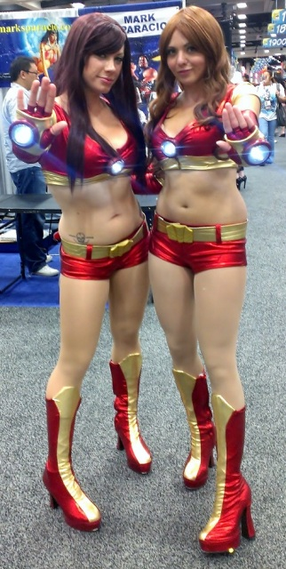 Cosplay girls in Iron Man bikinis