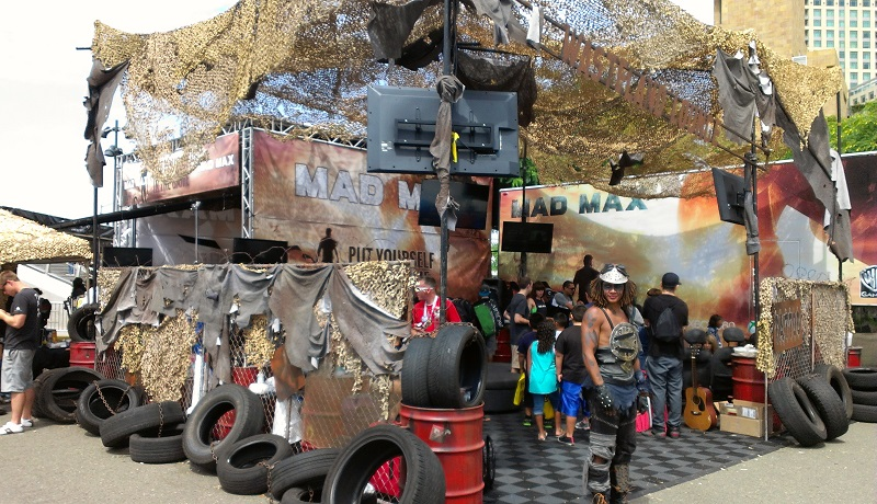Mad Max Fury Road Outdoor Booth at Comic-Con 2013