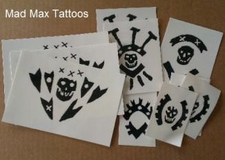 Mad Max Promo Temporary Tattoos