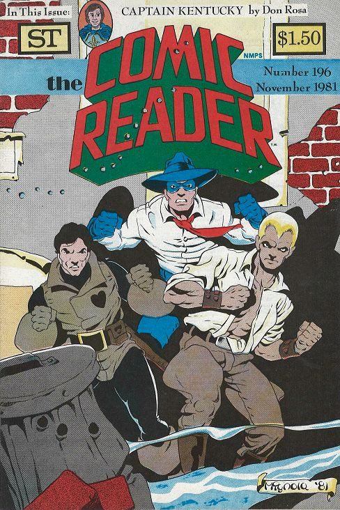 Comic Reader 196 cover by Mike Mignola