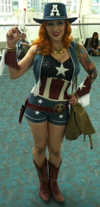 Sexy Captain America Cosplayer