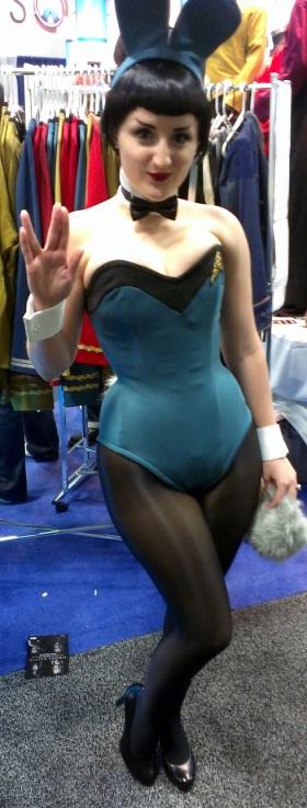 Playboy bunny cosplayer