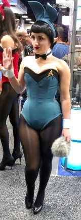 Sexy Playboy bunny at Comic-Con