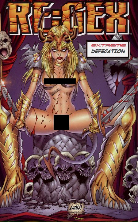 Regex comics by Rob Liefeld