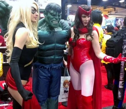 Sexy Ms. Marvel and Scarlet Witch Cosplayers