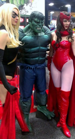Scarlet Witch and Ms. Marvel Cosplay at San Diego Comic-Con 2013