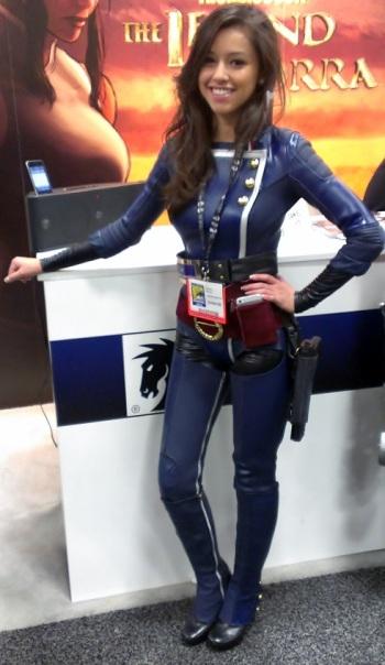 Pretty cosplayer at Comic-COn
