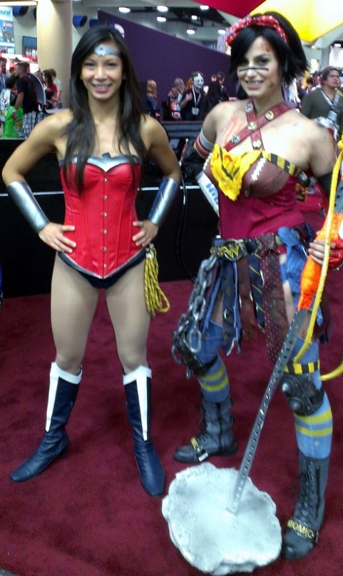 Wonder Woman Cosplayer at Comic-Con