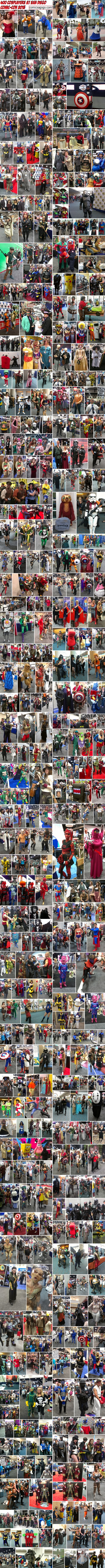 400 Cosplayers at San Diego Comic-Con 2013