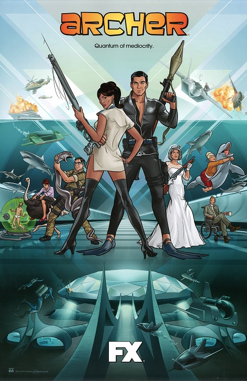Archer TV series poster from Comic-Con