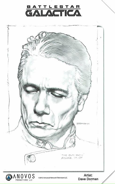 William Adama sketch by Dave Dorman
