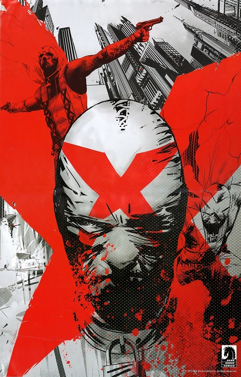X poster from Dark Horse Comics