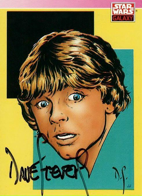 Illustration of Luke Skywalker, signed by Dave Stevens