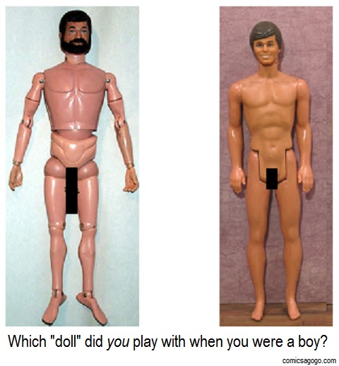 G.I. Joe and Ken dolls