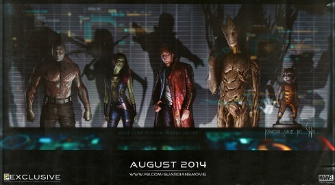 Guardians of the Galaxy SDCC Exclusive poster