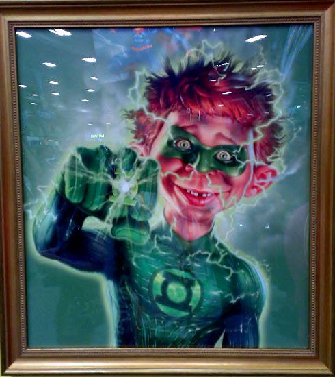 Alfred E. Neuman as Green Lantern