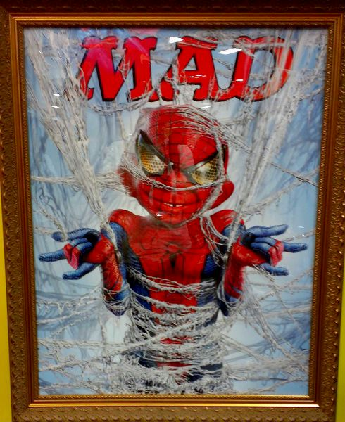 Alfred E. Neuman as Spider-man