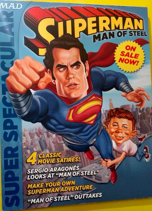 Mad Magazine spoofs The Man of Steel
