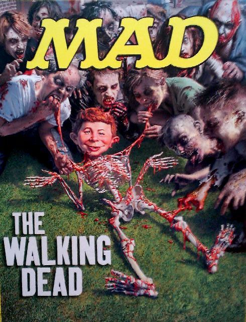 Alfred E. Neuman spoos The Walking Dead