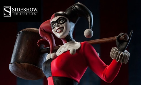 Harley Quinn banner for Sideshow Collectibles