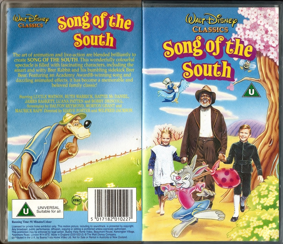 Disney Movie, Song of the South VHS from UK
