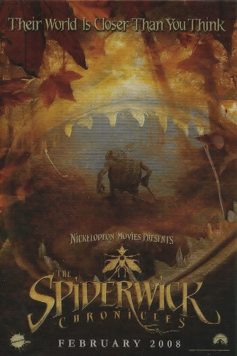 Lenticular promo card for The Spiderwick Chronicles