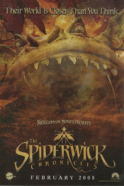 Lenticular SDCC promo card for The Spiderwick Chronicles