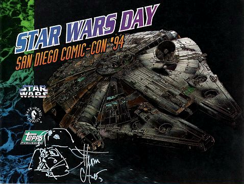 Star Wars Day 1994 Millennium Falcon signing card