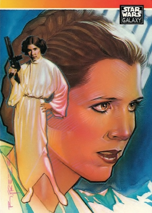 Star Wars Galaxy Trading Card, Leia by Brian Stelfreeze