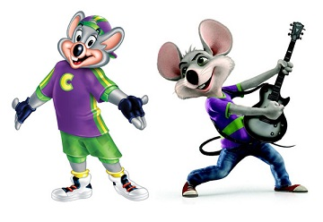 Chuck E Cheese mouse characters