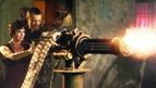 ma ma shooting gatling gun